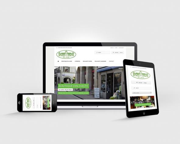 Din Hasty site web responsive