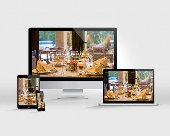 Magne Traiteur Site web responsive