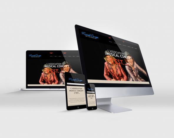 Musical Concept site web responsive
