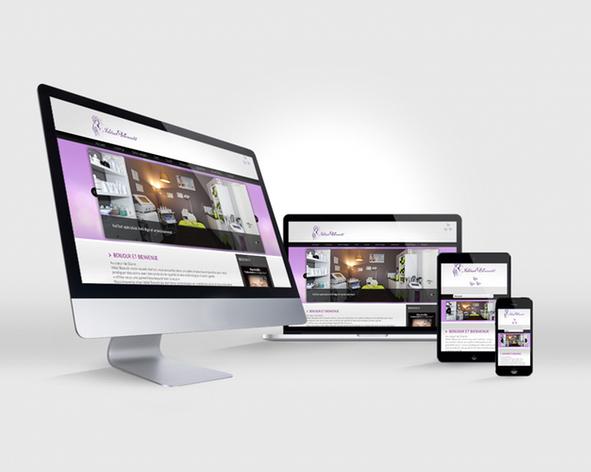 idéale Beauté site web responsive