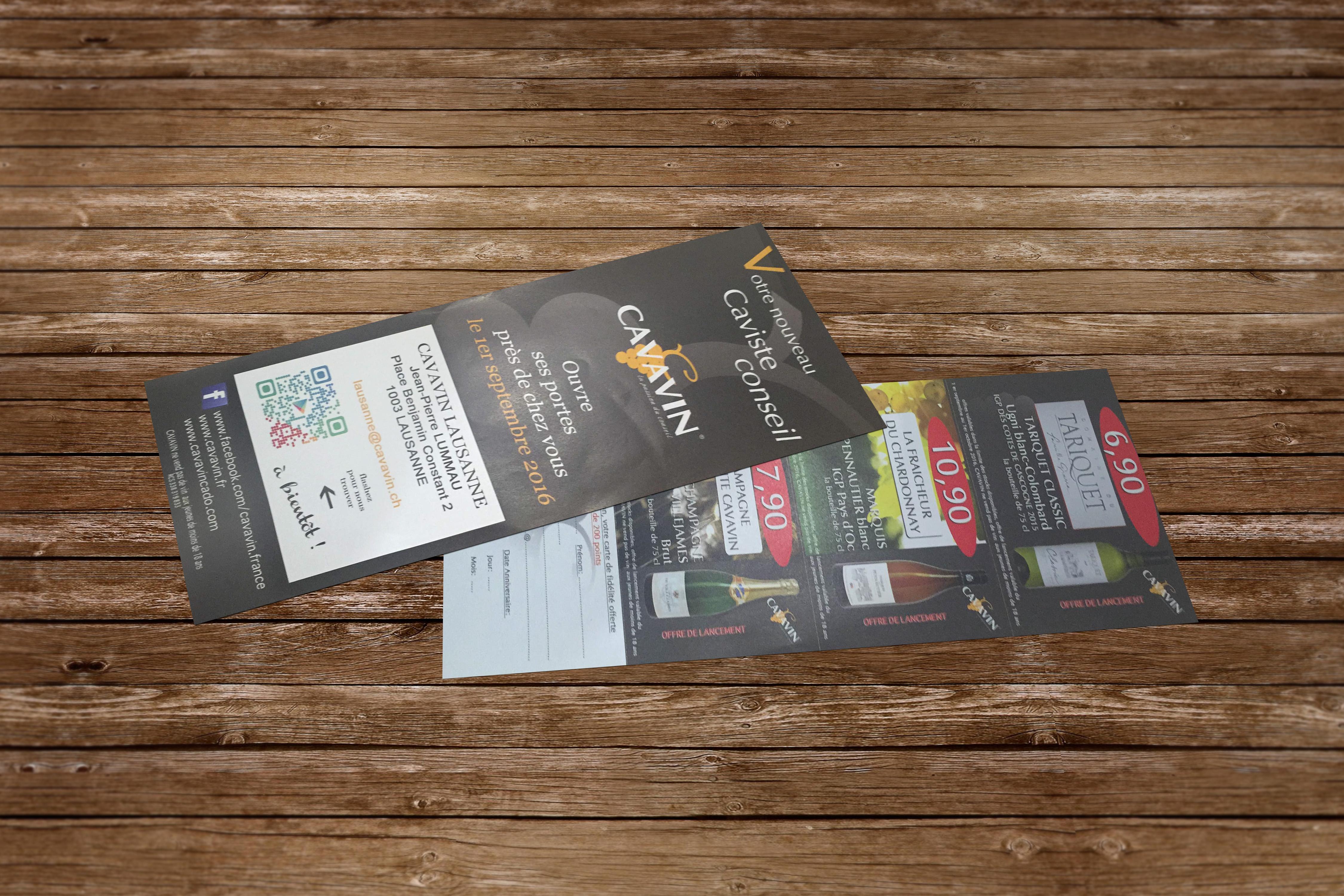 Distribution de flyers pour Cavavin Lausanne