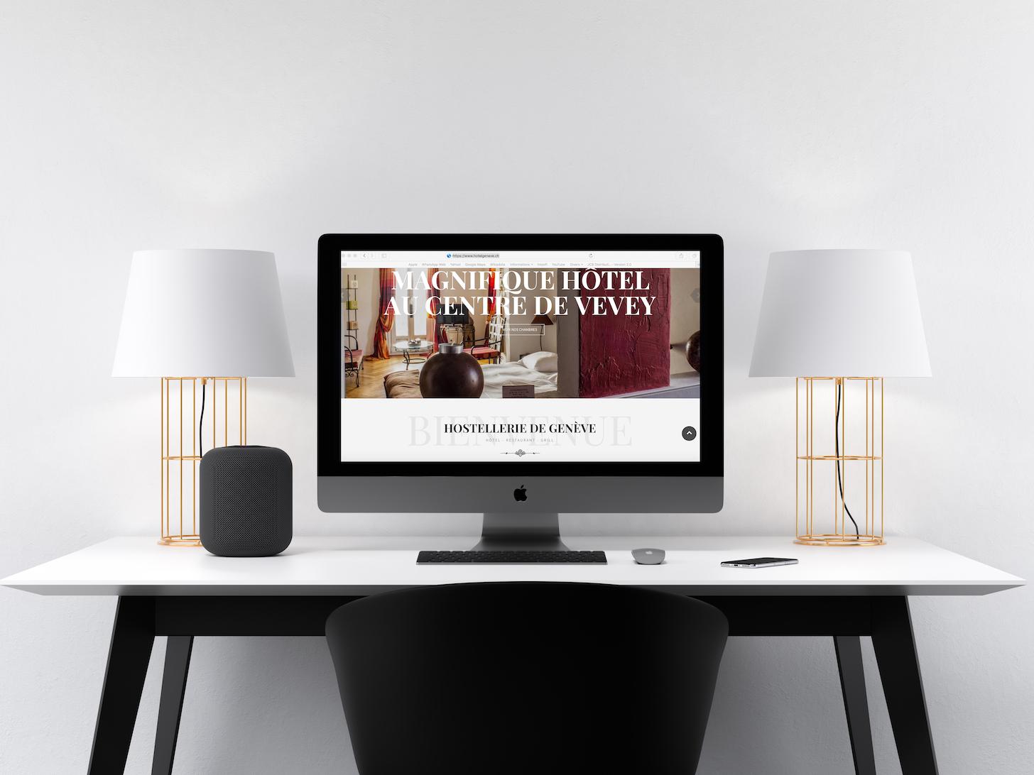 Création du site web Hostellerie de Genève