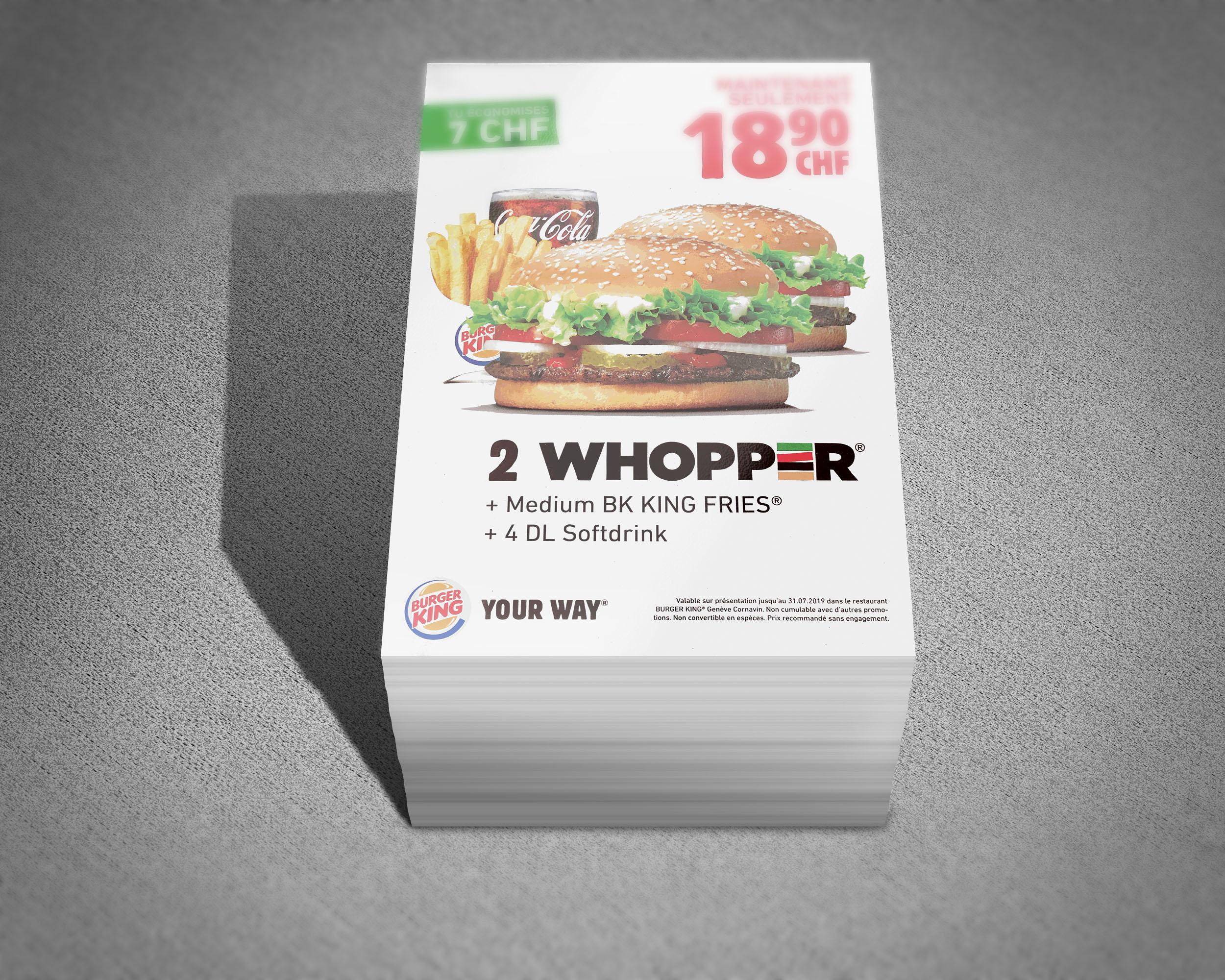distribution tous ménages burger king